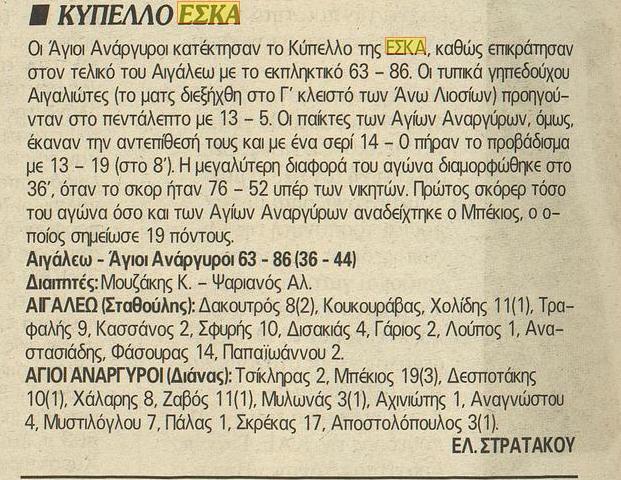 Τελικός Κυπέλλου ΕΣΚΑ Ανδρών 1998-1999